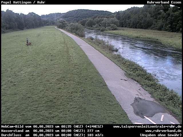 Webcam Märkischer Kreis - Pegel Hattingen / Ruhr