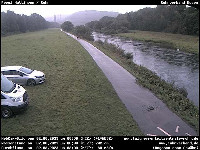 Webcam Sauerland - Pegel Hattingen / Ruhr