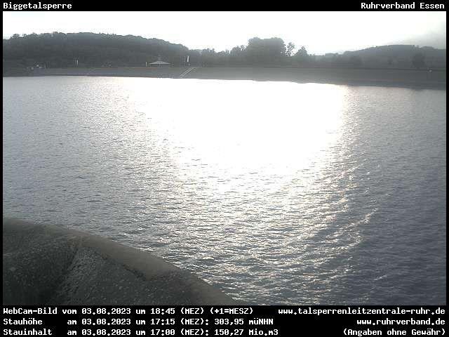 Webcam Kreis Olpe - Biggetalsperre (Damm)