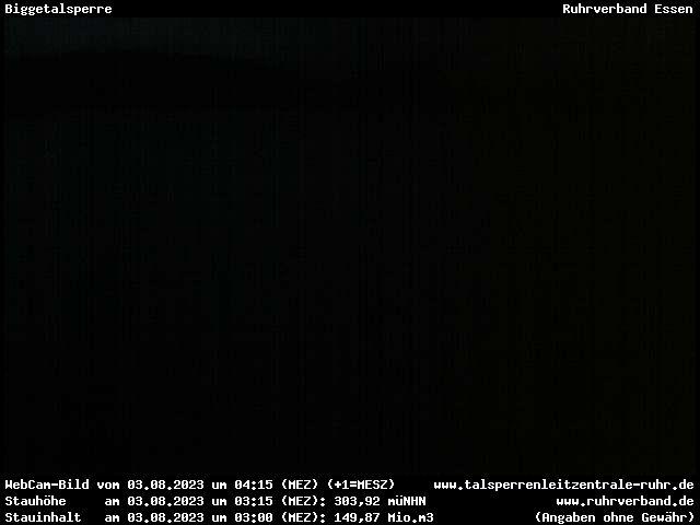 Webcam Sauerland - Biggetalsperre (Damm)