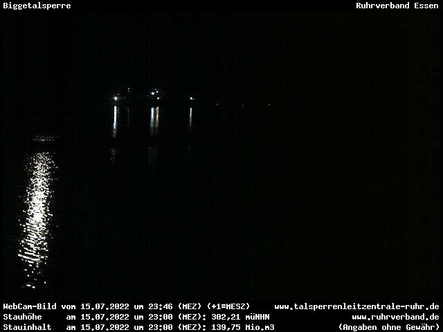 Webcam Sauerland - Biggetalsperre (Hochwasserentlastung)