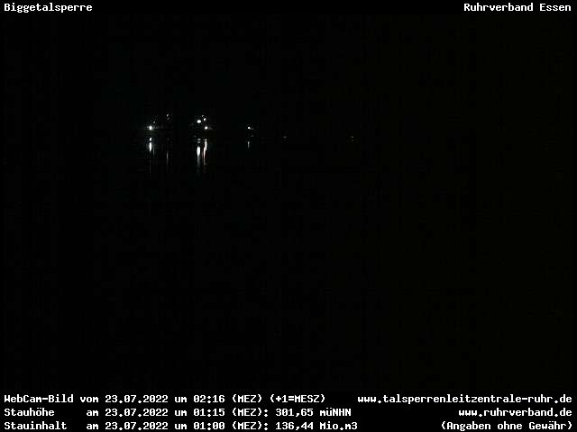 Webcam Kreis Olpe - Biggetalsperre (Hochwasserentlastung)