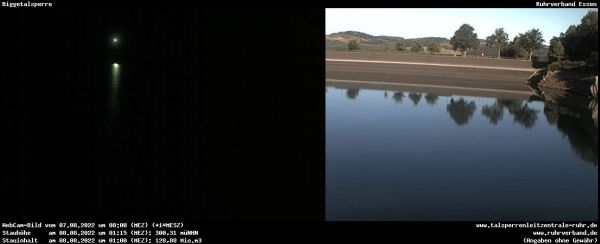 Bild der Webcam Biggetalsperre