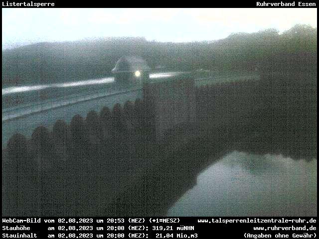 Webcam Kreis Olpe - Listertalsperre