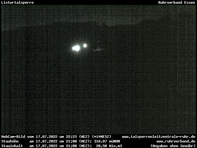 Webcam Märkischer Kreis - Listertalsperre