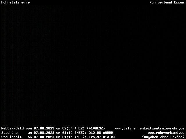 Webcam Sauerland - Möhnetalsperre (Mauerkrone)