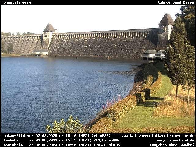 Webcam Kreis Soest - Möhnetalsperre (Luftseite)