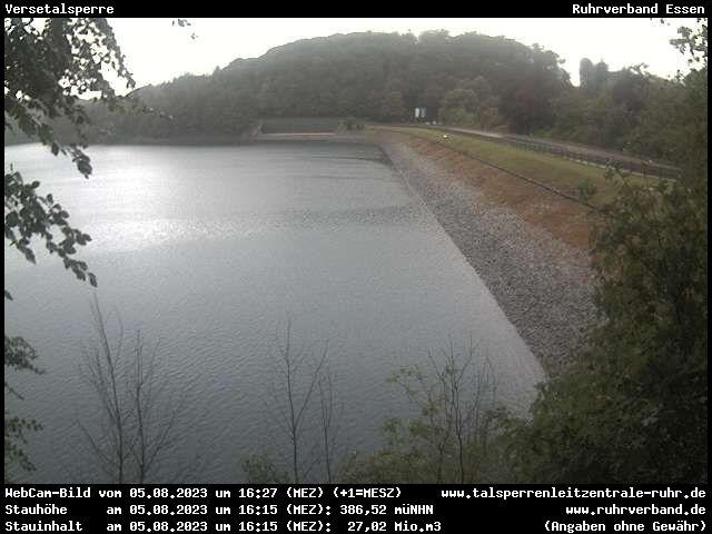 Webcam Märkischer Kreis - Versetalsperre